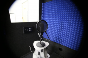 soundroom with microphone