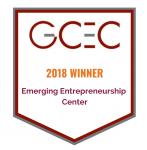 GCEC 2018 Award Banner for Emerging Entrepreneurship Center