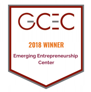 GCEC 2018 Award Banner for Emerging Entrepreneurship Center